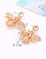 Fashion Gold Color Bee Shape Decorated Earrings