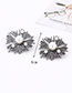 Fashion Silver Color Pearls Decorated Geometric Shape Earrings