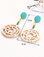 Fashion Yellow Round Shape Decorated Pom Ball Earrings