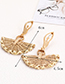 Fashion Khaki Semicircle Shape Decorated Earrings
