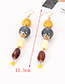 Elegant Multi-color Beads Decorated Color Matching Earrings