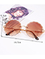 Fashion Multi-color Flower Shape Decorated Sunglasses