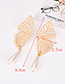 Fashion Gold Color Hollow Out Butterfly Decorated Earrings