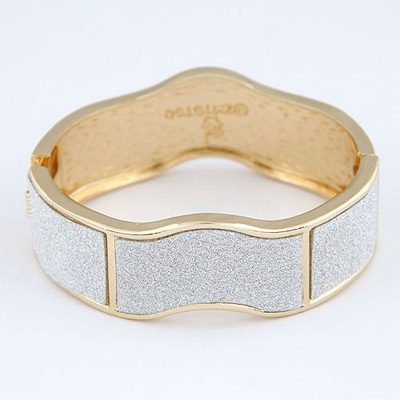 Sanctuary Gold Color Small Wave Shape Design Alloy Fashion Bangles