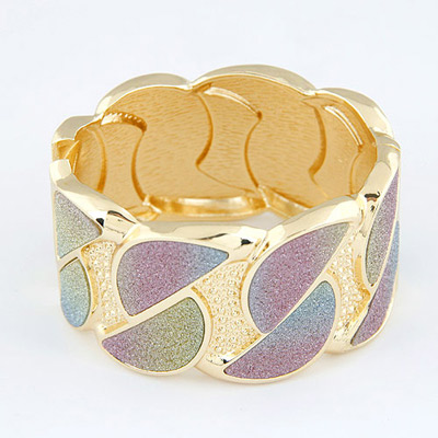 Equestrian Gold Color D Shape Design Alloy Fashion Bangles