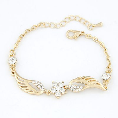 Waxing Gold Color Wing Of Angel Alloy Korean Fashion Bracelet