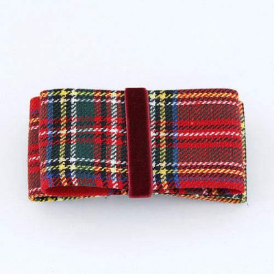 Light Red Wide Bowknot Design Fabric Hair clip hair claw
