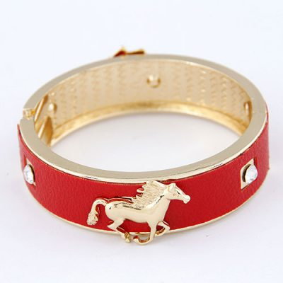 Choker Red Little Horse Design Alloy Fashion Bangles