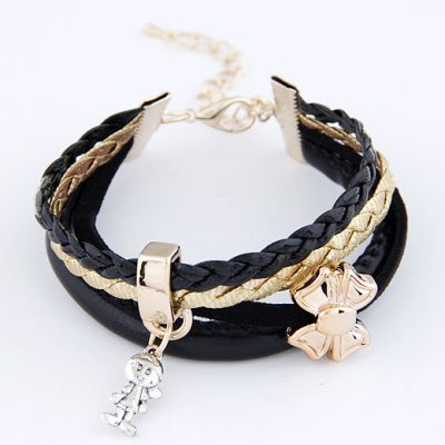 Drawstring Black Butterfly Multilayer