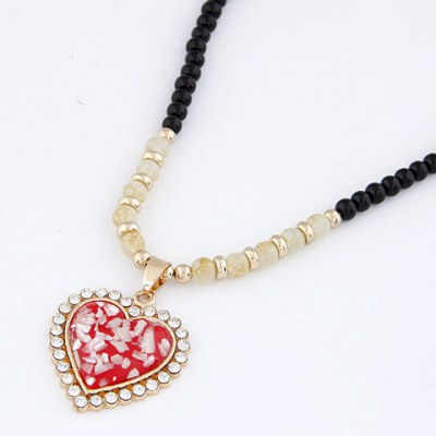 Lush Red Bling Heart Design Alloy Chains