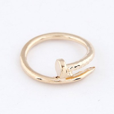 Misses Gold Color Rivet Shape Design Alloy Korean Rings