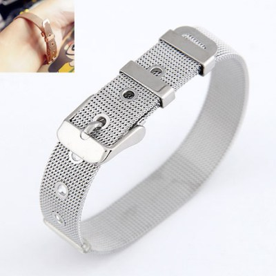 Woolrich Silver Belt Buckle Design Alloy Korean Fashion Bracelet