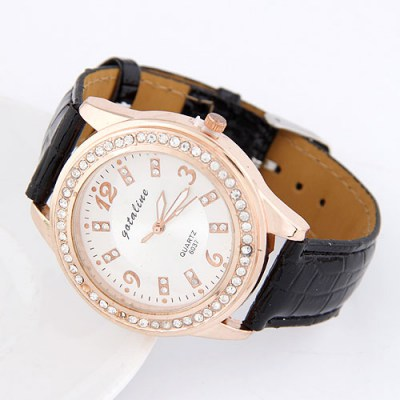 Kinetic Black Cortocal Simple Design Alloy Fashion Watches