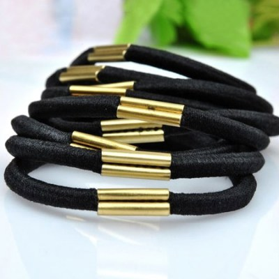 Reflective Black Simple Design Rubber Band Hair band hair hoop