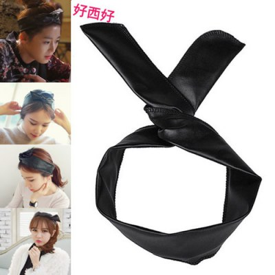 Diabetic Black Simple  Design Pu Hair band hair hoop