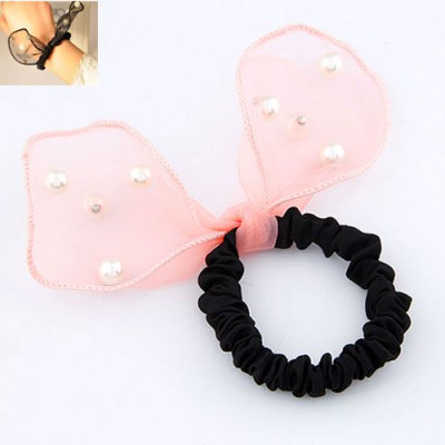 Maxi Pink Big Bowknot Decorated Design Rubber Band Hair band hair hoop
