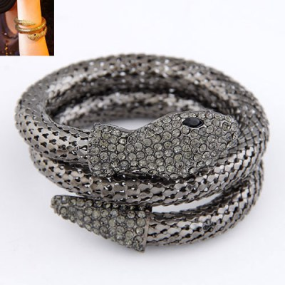 Promise Antique Snake Shape Design Alloy Fashion Bangles