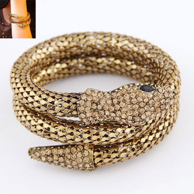 Promise Bronze Snake Shape Design Alloy Fashion Bangles