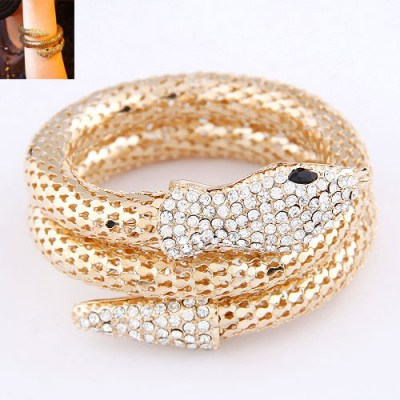 Genuine Gold Color Snake Shape Design