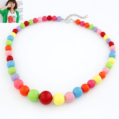 Catholic Multicolor Simple Design Rosin Bib Necklaces