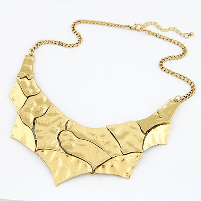 Platinum Gold Color Irregular Matching Style Alloy Bib Necklaces