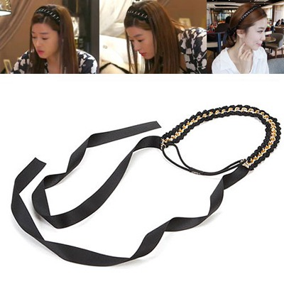 Toddler Black Simple Chain Design Alloy Hair band hair hoop