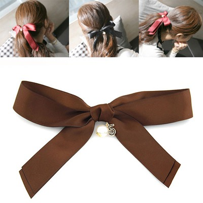 Blank Coffee Big Bowknot Design Ribbon Hair clip hair claw