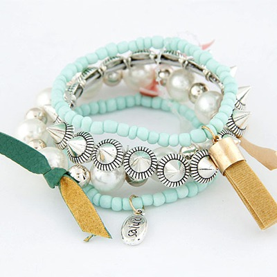 Promo Light Green Multilayer Design Measle Korean Fashion Bracelet