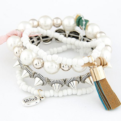 Evil White Multilayer Design Measle Korean Fashion Bracelet