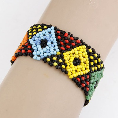 Mini Multicolor Beads Weave Design Measle Korean Fashion Bracelet