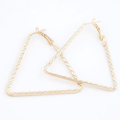 Lightning Gold Triangle Shape Design