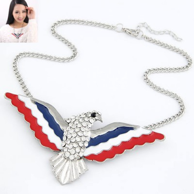 Hardy Multicolor Owl Shape Design Alloy Bib Necklaces