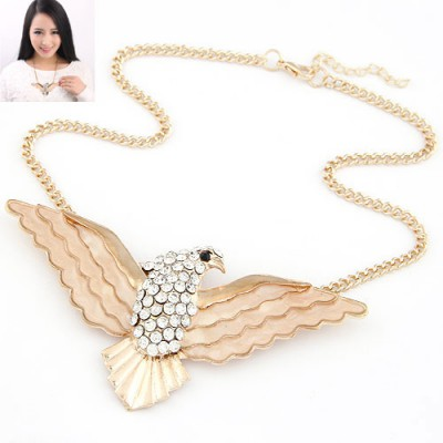 Sparking Gold Color Owl Shape Design Alloy Bib Necklaces