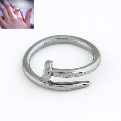Estate Antique Simple Rivet Design Alloy Korean Rings