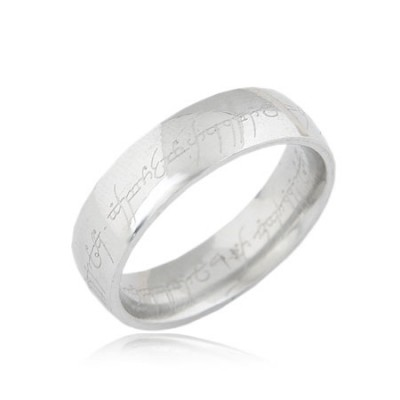 Ruffled Silver Color Simple Design Titanium Korean Rings