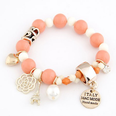Mini Orange Multielement Pendant Decorated Design Alloy Korean Fashion Bracelet