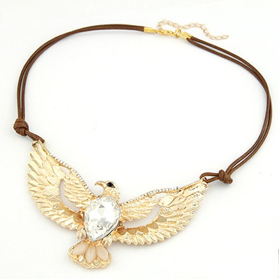Arrowhead Gold Color Eagle Pendant Design Alloy Bib Necklaces