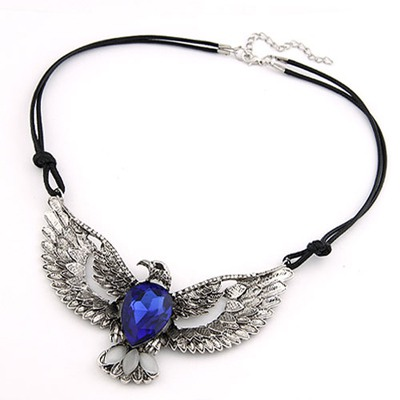 Baroque Antique Eagle Pendant Design Alloy Bib Necklaces