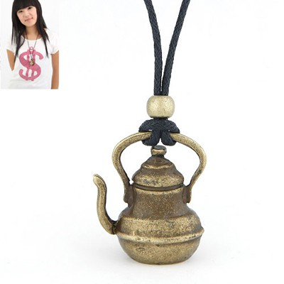 Indie Antique Gold Vintage Kettle Pendant Design Alloy Pendants