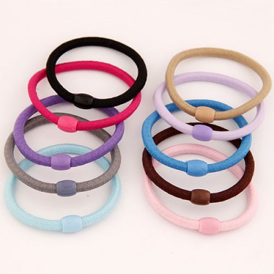 Personaliz Color Will Be Random Double Color Simple Design Rubber Band Hair band hair hoop