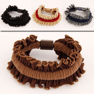 Best Color Will Be Random Fold Simple Design Rubber Band Hair band hair hoop