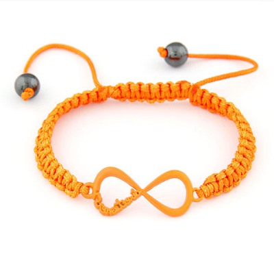 Uniform Orange Shape 8 Decorated Simple Design Alloy Korean Fashion Bracelet