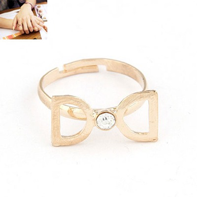 Elephant Gold Color Double D Decorated Design Alloy Korean Rings