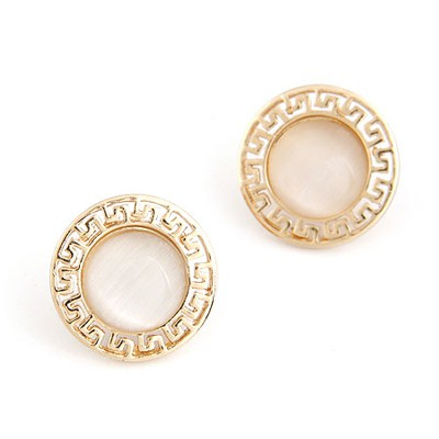 Limited Gold Color Round Shape Simple Design