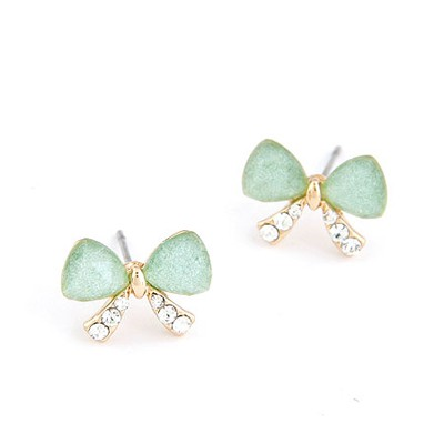 Skeleton Green Butterfly Shape Simple Design Alloy Stud Earrings