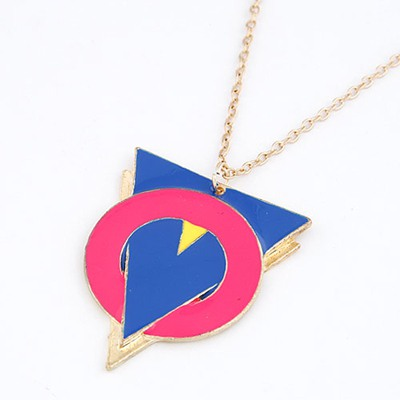 Kids Red Triangle And Circle Linking Design Alloy Chains