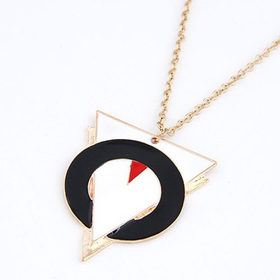 Skate Black Triangle And Circle Linking Design Alloy Chains