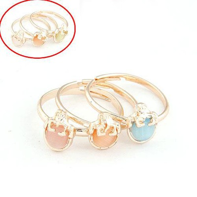 Long Color Will Be Random Strawberry Decorated Three Combination Alloy Korean Rings