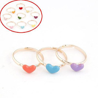 Wonderful Color Will Be Random Heart Shape Decorated Three Combination Alloy Korean Rings