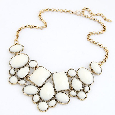 Bohemian White Various Of Geometric Shape Pendant Design